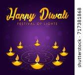 indian festival of lights.... | Shutterstock .eps vector #717381868