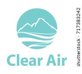 clear air logo.winter image of... | Shutterstock .eps vector #717383242