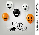halloween balloons gradient... | Shutterstock .eps vector #717385756