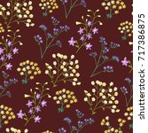 seamless pattern of small... | Shutterstock .eps vector #717386875