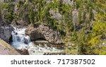 yellowstone national park ... | Shutterstock . vector #717387502