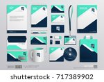 stationery corporate brand... | Shutterstock .eps vector #717389902