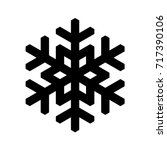 snowflake icon. christmas and... | Shutterstock .eps vector #717390106