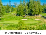 sand bunkers at the golf course. | Shutterstock . vector #717394672
