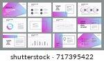business presentation template... | Shutterstock .eps vector #717395422