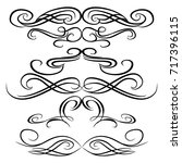 decorative monograms and... | Shutterstock .eps vector #717396115