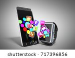 creative mobile connectivity... | Shutterstock . vector #717396856