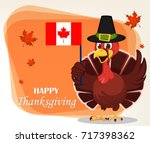 thanksgiving greeting card with ... | Shutterstock .eps vector #717398362