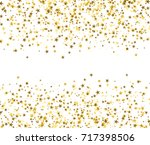 golden stars with blank space... | Shutterstock .eps vector #717398506