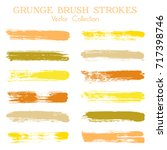 watercolor  ink or paint brush... | Shutterstock .eps vector #717398746