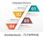 modern business timeline... | Shutterstock .eps vector #717399418