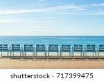 promenade nice  france.  | Shutterstock . vector #717399475