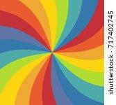 abstract rainbow ray texture... | Shutterstock .eps vector #717402745