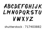 hand drawn vector alphabet ... | Shutterstock .eps vector #717403882
