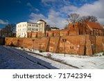 Wall of the old town in Grudziadz - Poland - stock photo