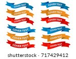 label ribbon all color | Shutterstock .eps vector #717429412