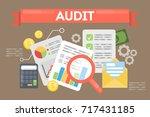 audit concept illustration.... | Shutterstock .eps vector #717431185