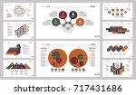 ten recruitment slide templates ... | Shutterstock .eps vector #717431686