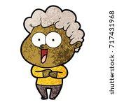 cartoon happy man | Shutterstock .eps vector #717431968