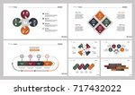 seven teamwork slide templates... | Shutterstock .eps vector #717432022
