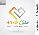 premium outlined heart logo  ... | Shutterstock .eps vector #717434416