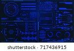 hud futuristic element user... | Shutterstock .eps vector #717436915