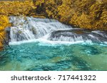 leaf color change near the... | Shutterstock . vector #717441322