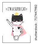 cute cat illustration and...