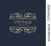 vintage frame banner design... | Shutterstock .eps vector #717452005