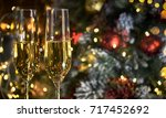 christmas rustic background... | Shutterstock . vector #717452692