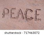 "Handwritten Word ""peace"" On..."