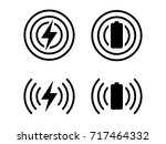 simple icons set of wireless... | Shutterstock .eps vector #717464332