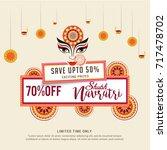 illustration sale poster or... | Shutterstock .eps vector #717478702