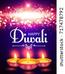 happy diwali. traditional... | Shutterstock .eps vector #717478792