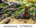 fresh lavender bunch and... | Shutterstock . vector #717482512