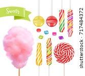 candy set. swirl caramel ... | Shutterstock .eps vector #717484372