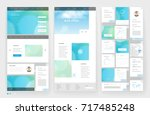 website template design with... | Shutterstock .eps vector #717485248