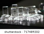 Small photo of Transparent Acrylic Plastic objects texture