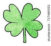 cartoon four leaf clover | Shutterstock .eps vector #717489352