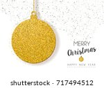 merry christmas and happy new... | Shutterstock .eps vector #717494512