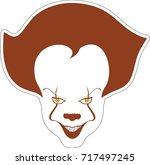 clown sticker   Shutterstock .eps vector #717497245