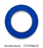 blue roll of painters tape... | Shutterstock . vector #717498622