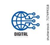 digital world   vector business ...   Shutterstock .eps vector #717499318
