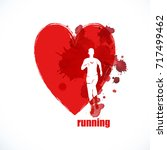 running marathon  people run ... | Shutterstock .eps vector #717499462
