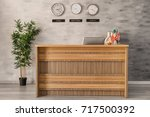 reception desk in hotel | Shutterstock . vector #717500392
