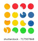 round colored stickers isolated ...   Shutterstock . vector #717507868
