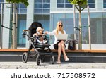 mother and business woman... | Shutterstock . vector #717508972
