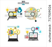 seo optimization icons. web... | Shutterstock .eps vector #717509026