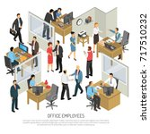 people in office interior... | Shutterstock .eps vector #717510232