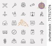 outline web icon set   summer... | Shutterstock .eps vector #717517276